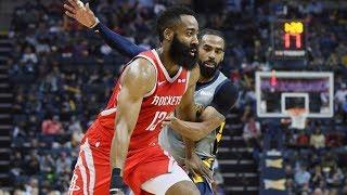 James Harden 57 Points OT vs Grizzlies! 2018-19 NBA Season