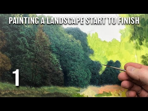#128 Painting a Landscape From Start To Finish