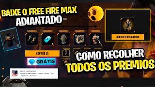 RAPIDO! ???? COMO RECOLHER OS PREMIOS DO FREE FIRE MAX! VARIOS SKINS DE GRAÇA!