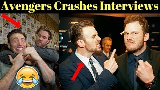 Avengers Cast Crashes Interview - Unseen Funny Moments - 2017