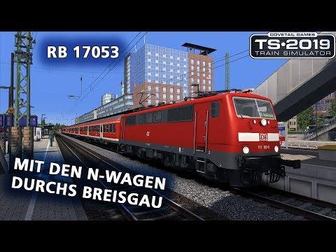 Train Simulator 2019: [NGLP] RB 17053 - Mit den n-Wagen durchs Breisgau