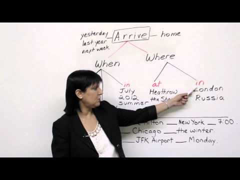 Prepositions - Arrive AT, ON, or IN?