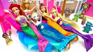 Mermaids Costumes Change Disney Princess Swimming Underwater Pool Party Dress Up