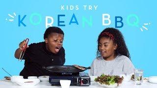 Kids Try Korean BBQ | Kids Try | HiHo Kids