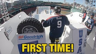 Hockey Players try Red Bull Crashed Ice Track for the first time WITHOUT Practice!