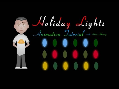 Script #Coding] Holiday Christmas Lights Animation Tutorial CSS