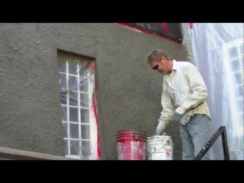 Heavy Stucco Dash Finish Or Texture Plastering Guru Diy