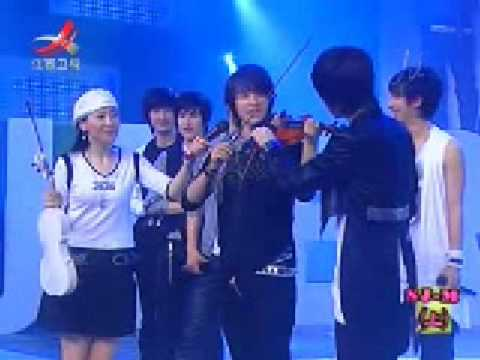 Donghae playing Violin