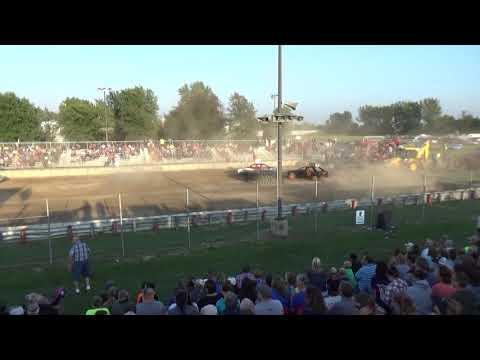 USA Figure Eight Championship 2018 (FWD cars) Heat 1 (Munger,Michigan)