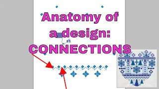 Anatomy of a design: Embroidery Library makes great connections 👍😀
