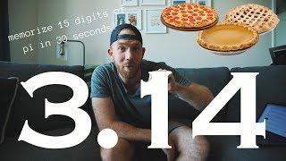 MEMORIZE 15 DIGITS OF PI IN 30 SECONDS!! // RANDOM MEMORY TIPS 18.4