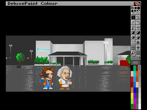 Live Pixel Art session by Jojo073 with Deluxe Paint