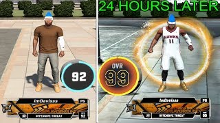 I HIT 99 OVERALL AFTER PLAYING 2K FOR 24 HOURS STRAIGHT.. NBA 2K20 99 overall reaction