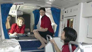 Secret rest cabin for pilots and flight attendants; Spare engine on Boeing 747 - Compilation