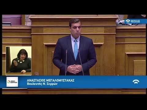 Α. Μεγαλομύστακας στην Ολομέλεια της Βουλής (14-11-2018)