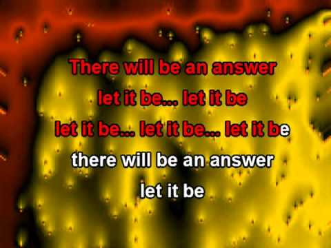 Baixar Let it Be (with lyrics) - The Beatles karaoke