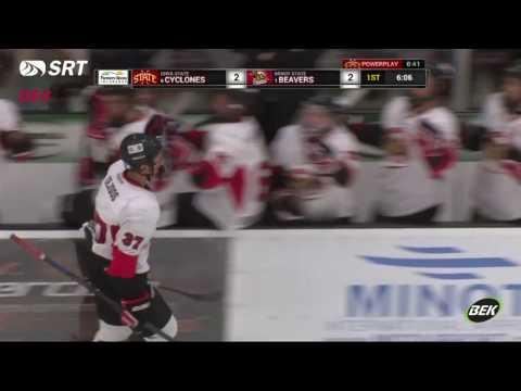 Minot State vs. Iowa State ACHA Hockey Brian Rothenberger (clip)