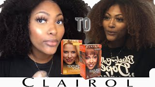DYING MY NATURAL HAIR BLONDE!!! | Clairol Box Dye