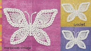 Mariposa tejida a crochet - Tejiendo Perú