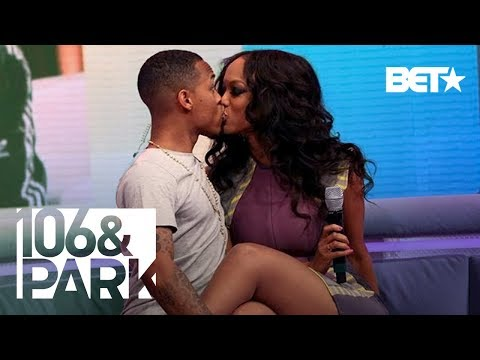 Tyra Banks & Bow Wow Unexpectedly Kiss LIVE | 106 & Park