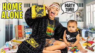 FERRAN Stays HOME ALONE For a DAY!! (NO RULES) | The Royalty Family