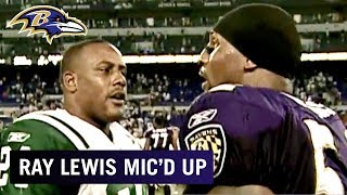 Ray Lewis Mic'd Up vs. Jets 'Get Off the Field!' | Baltimore Ravens
