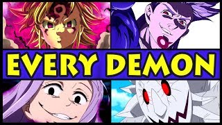 Every Demon RANKED from Weakest to Strongest! (Seven Deadly Sins / Nanatsu no Taizai All Demons)