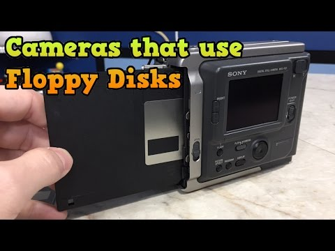 Back when cameras used... Floppy Disks? Sony Mavica