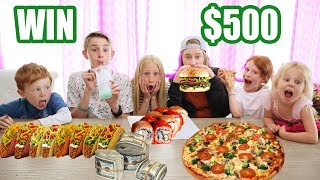 LAST TO EAT  FOOD WINS $500 Last To LEAVE With Their FOOD WINS!! DIET SWAP CHALLENGE