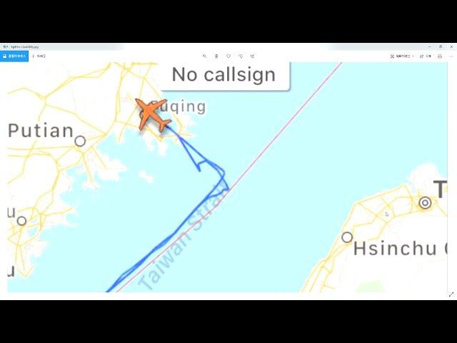 「飛機守望」推特揭露 共軍偵察機沿中線飛行