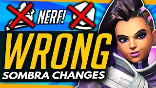 Overwatch | THE WRONG SOMBRA CHANGES + How She Should Be BUFFED (ft Fitzy)