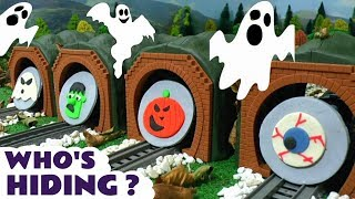 Halloween Thomas and Friends Toy Trains Spooky Play Doh Family Friendly Fun Guessing Game by TT4U