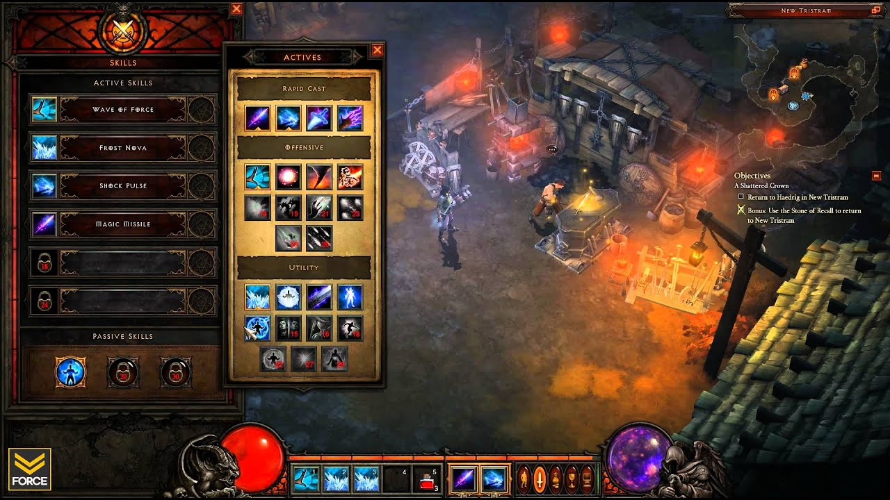Diablo 3 Beta - Level 13 Wizard: All Skills and Magic Find (Gameplay) - YouTube