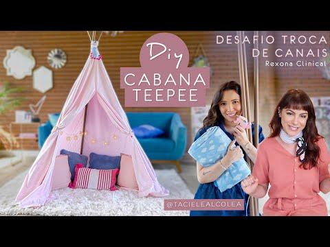 DIY Cabana Teepee – Desafio Troca de Canais Rexona Clinical c/ @tacielealcolea