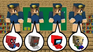 Monster School : Prison Escape All Episodes - minecraft animation