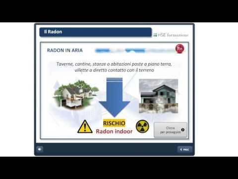 """Anteprima corso di aggiornamento e-learning: Rischio Ambientale Radioattività """"Il Radon"""""""