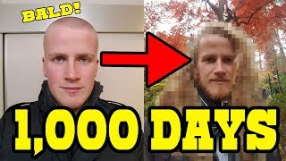 1000 Days of Hair Growth in Japan Timelapse