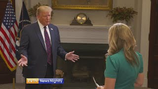 President Donald Trump talks re-opening churches, fight against COVID and more on EWTN News Nightly