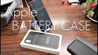 Apple  OFFICIAL Smart Battery Case - iPhone XS / MAX - Hands on Review...MINES BROKEN!