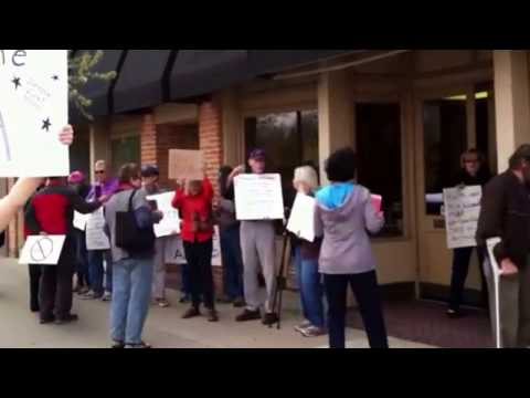 Affordable Care Act supporters Thursday.