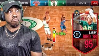 95 LARRY BIRD BOMBING 3 POINTERS! NBA Live Mobile 16 Gameplay Ep. 81