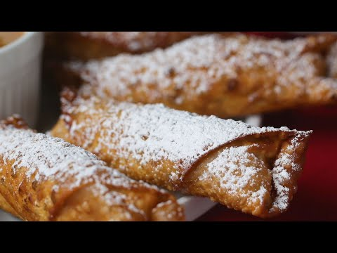 How To Turn Your Apple Pie In To Egg Rolls ? Tasty