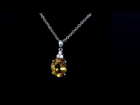 Browns Family Jewellers Diamond And Citrine Pendant