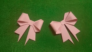 DIY how to fold paper bow VERY CUTE | Origami bow