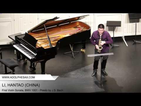 Dinant 2014 - Li, Hantao - First Violin Sonata, BWV 1001 - Presto by J.S. Bach