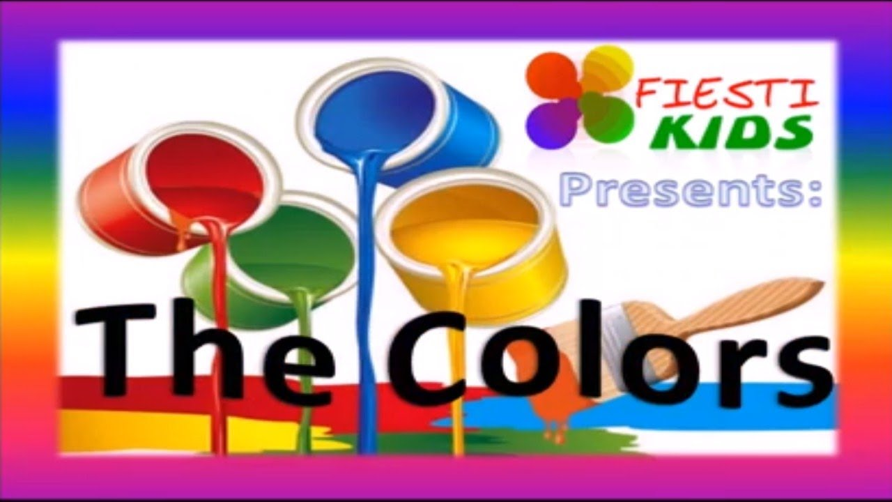 Los Colores En Inglés Para Niños. Learning The Colors
