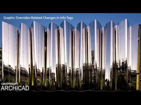 ARCHICAD 20 - Graphic Overrides-Related Changes in Info Tags