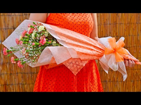 Flower Bouquet Gift Wrapping Youtube
