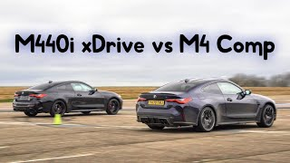 Drag Race - New BMW M4 vs M440i & Lap Time Battle | 4K