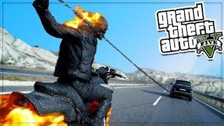 GTA 5 Ghost Rider Mod - Thử nghiệm ma tốc độ biến các loại xe thành lửa | ND Gaming